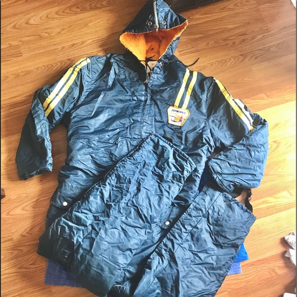 Vintage insulated lined snow/work coveralls